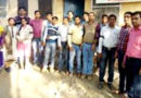 कृषि संविदा कर्मियों ने काली पट्टी बांध कर किया काम