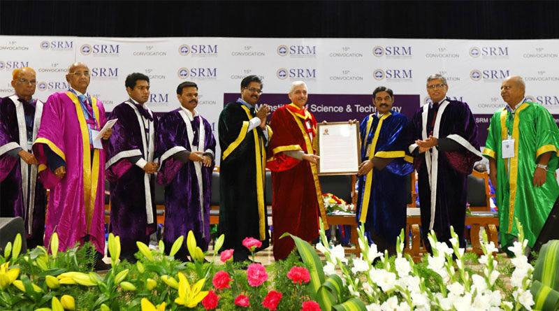 छात्रों के लक्ष्य को पूरा करने में एसआरएम इंस्टीट्यूट की प्रमुख भूमिका : श्री राजाराजन