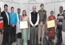 होशंगाबाद की महिला कृषकों को कृषि कर्मण अवॉर्ड मिलने पर सम्मानित किया