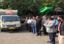 उद्यानिकी आयुक्त ने फसल बीमा प्रचार रथ को दिखाई हरी झंडी