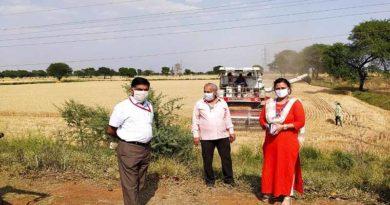 जबलपुर जिले में रबी फ़सलों की कटाई जारी