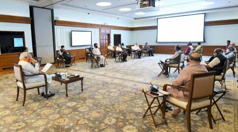 प्रधानमंत्री श्री मोदी ने कृषि को बढ़ावा देने के तौर-तरीकों पर बैठक की