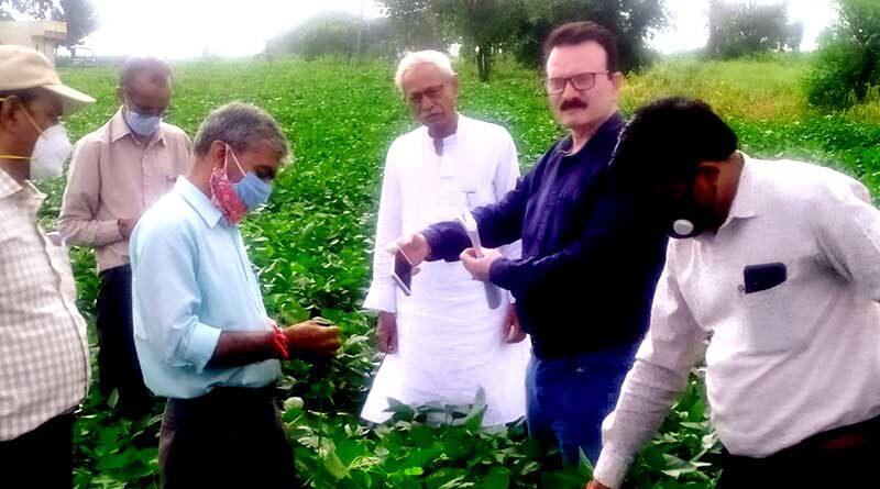 कृषि अधिकारियों ने किया निरीक्षण