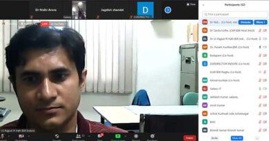 सोयाबीन की बीमारियों का प्रबंधन' विषय पर वेबिनार आयोजित