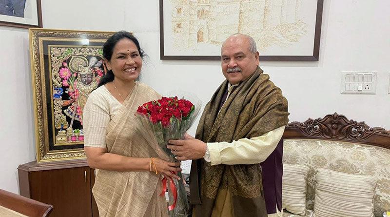 सुश्री शोभा करंदलाजे ने कृषि मंत्रालय में राज्यमंत्री का कार्यभार संभाला