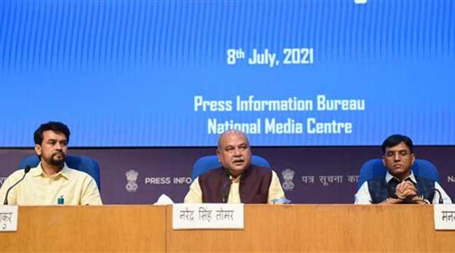 केन्द्रीय मंत्रिमंडल ने 'कृषि बुनियादी ढांचा कोष' में वित्तपोषण योजना में संशोधन किया