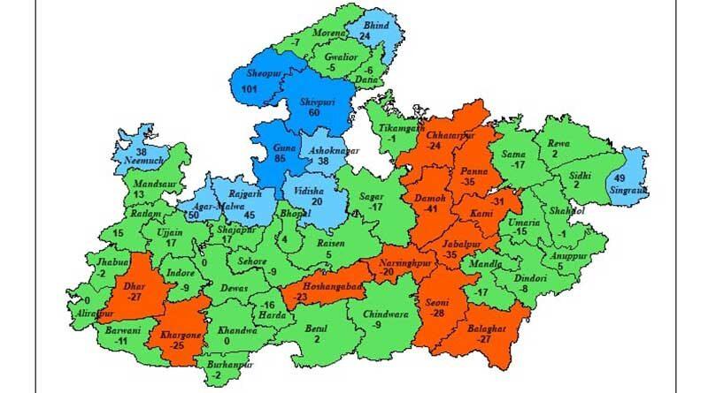 मध्यप्रदेश में बारिश का दौर जारी, भैंसदेही में सर्वाधिक 105 मिमी वर्षा हुई