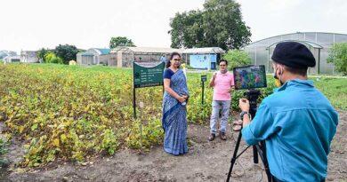 भारतीय सोयाबीन अनुसन्धान संस्थान ने पहली बार लाइव वर्चुअल फील्ड प्रदर्शन किया