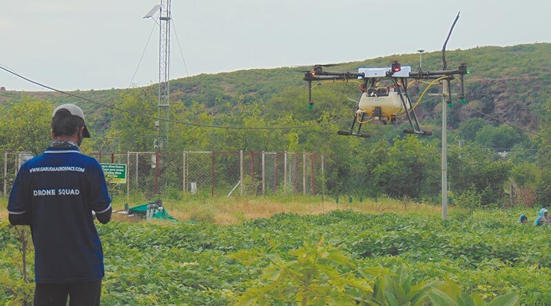ड्रोन से 25 एकड़ फसल पर एक दिन में छिड़काव संभव
