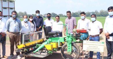 जेएनकेवी जबलपुर और आईआरआरआई फिलीपीन्स ने मिल कर बनाई धान की सीधी बोनी के लिए अंर्तराष्ट्रीय स्तर की मशीन